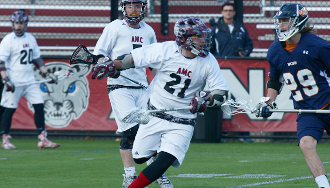 Falcons Fly to 18-5 Win over Men's Lacrosse
