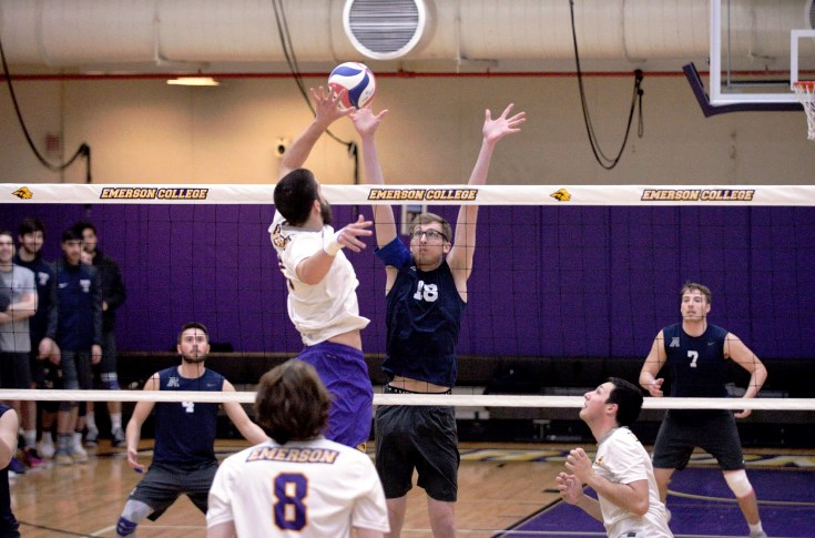 Men's Volleyball: Raiders close out March undefeated; down Emerson 3-0