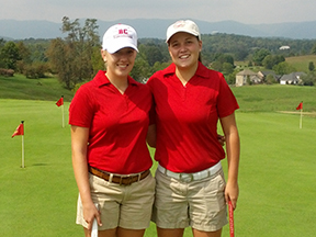 andrea walker and marin warring at bridgewater's first-ever tournament