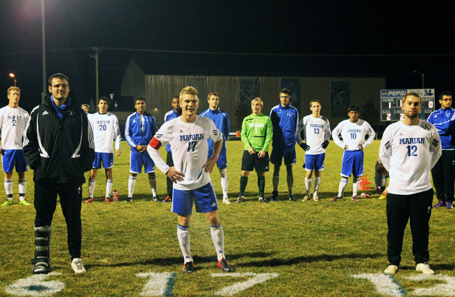 Sabres, Crusaders Play to 1-1 Draw on Senior Night