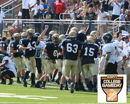 Gallaudet interception play makes ESPN's College GameDay Images of 2010 feature
