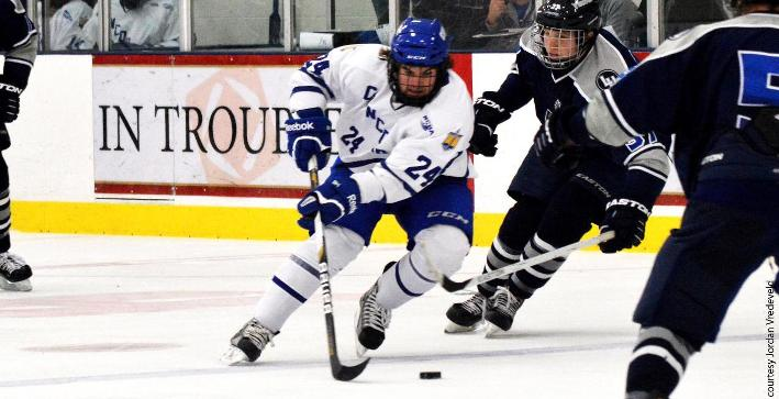 Men's Hockey and Bethel skate to 5-5 tie in Thanksgiving Cup action