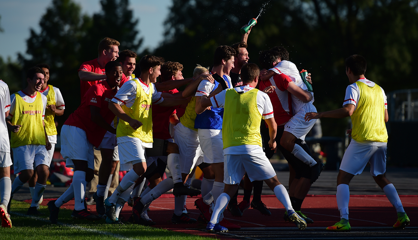 Men's Soccer Keeps Playoffs Hope Alive with Thrilling 3-2 Victory vs. Ursinus