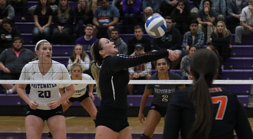 Women's volleyball topped by UW-Whitewater in NCAA first round action