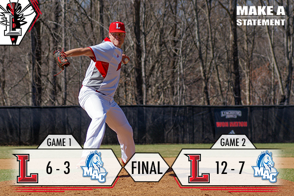 Baseball Sweeps Doubleheader Against Mt. Aloysius, 6-3, 12-7
