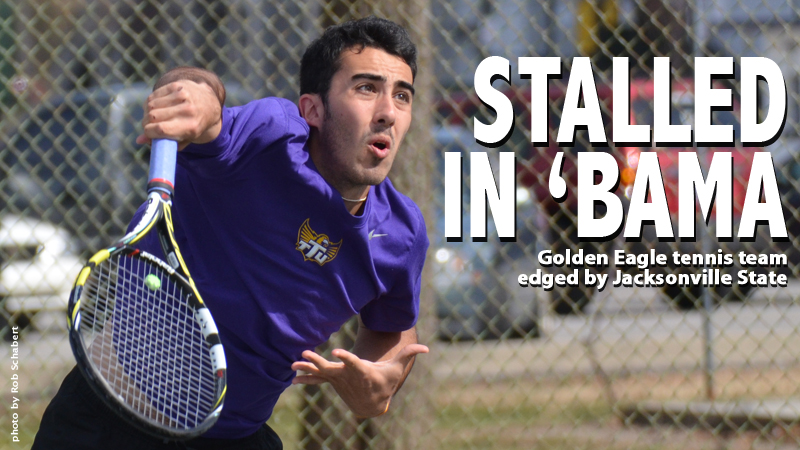 Bump in the road: Golden Eagle tennis team falls at Jax State, 4-3