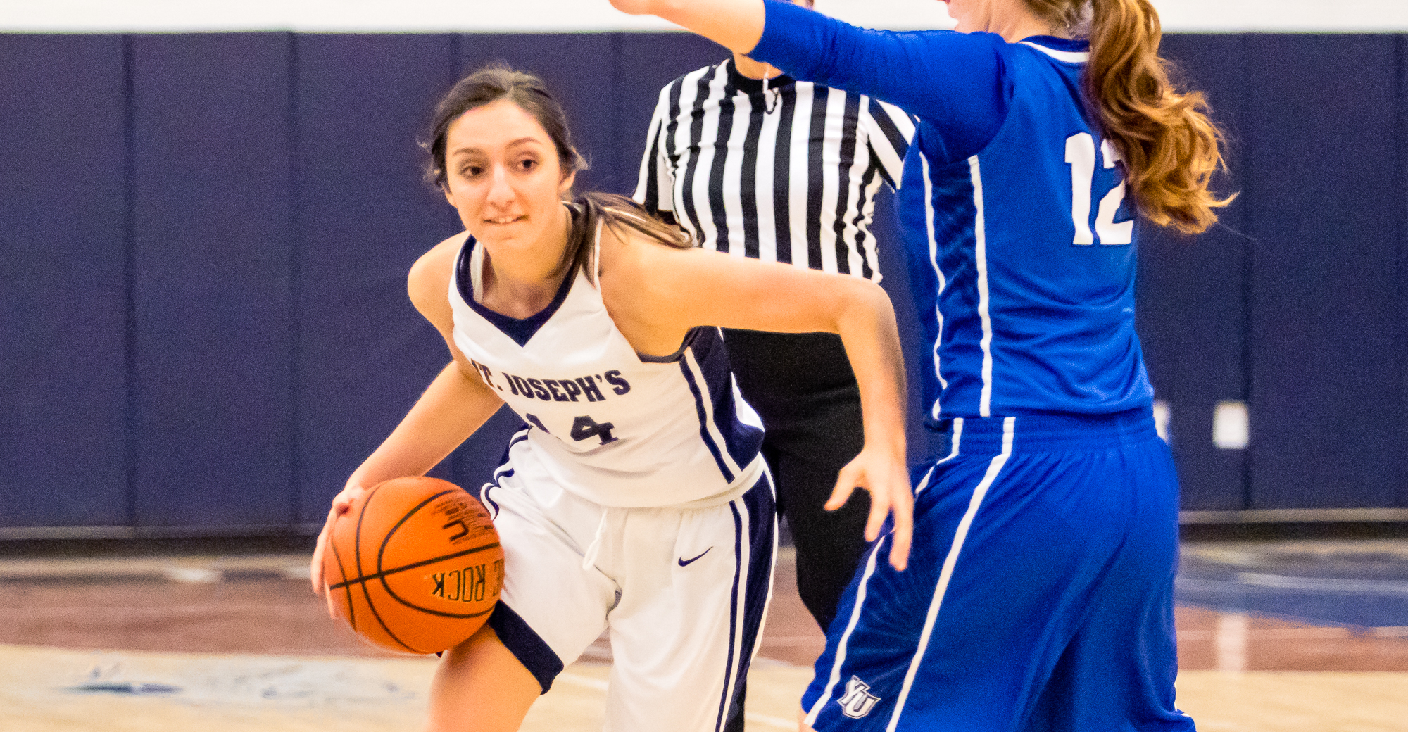 Nina DiCioccio scored a career-high 11 points with six rebounds, two steals, two blocks and an assist in 14 minutes.