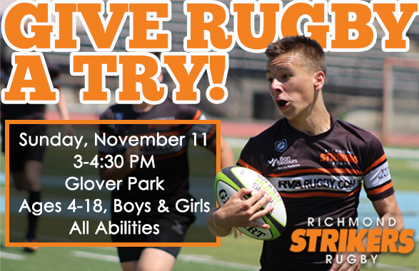 Give Rugby a Try! Strikers Offer Free Clinic on November 11!