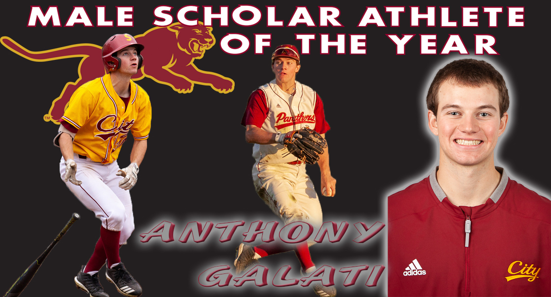 Anthony Galati is the 2018-19 SCC Male Scholar Co-Athlete of the Year
