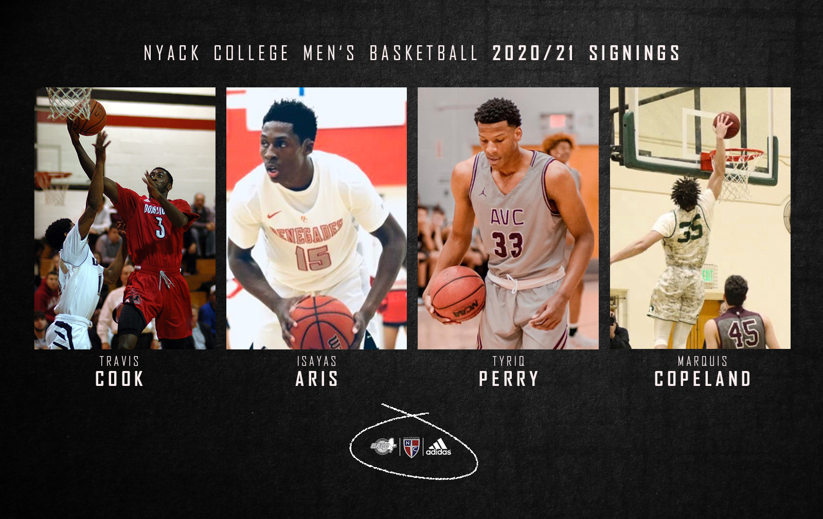 Men's Basketball Adds Four More to Round Up 20/21 Recruiting Class