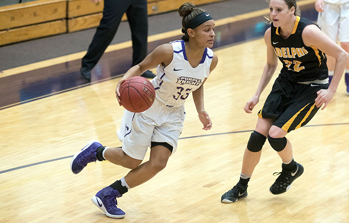 Evora matches career-high 23 points in Purple Knights' season-ending loss to Stonehill