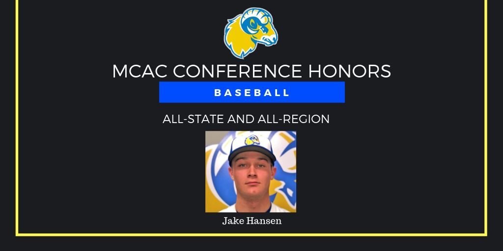 Hansen Earns All-State, All-Region Honors in Baseball