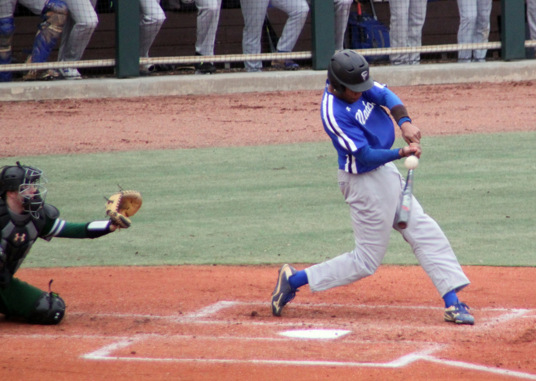 JJ Wilkes drove in a run on an RBI double on Sunday at Gil Coan Field (Photo courtesy of Judy Victory).