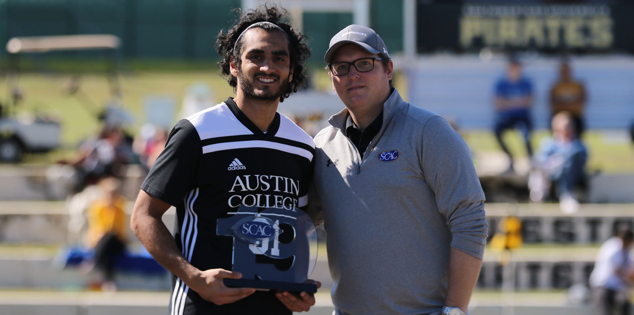 Austin College's Khalaf Earns SCAC Men's Soccer Elite 19 Award