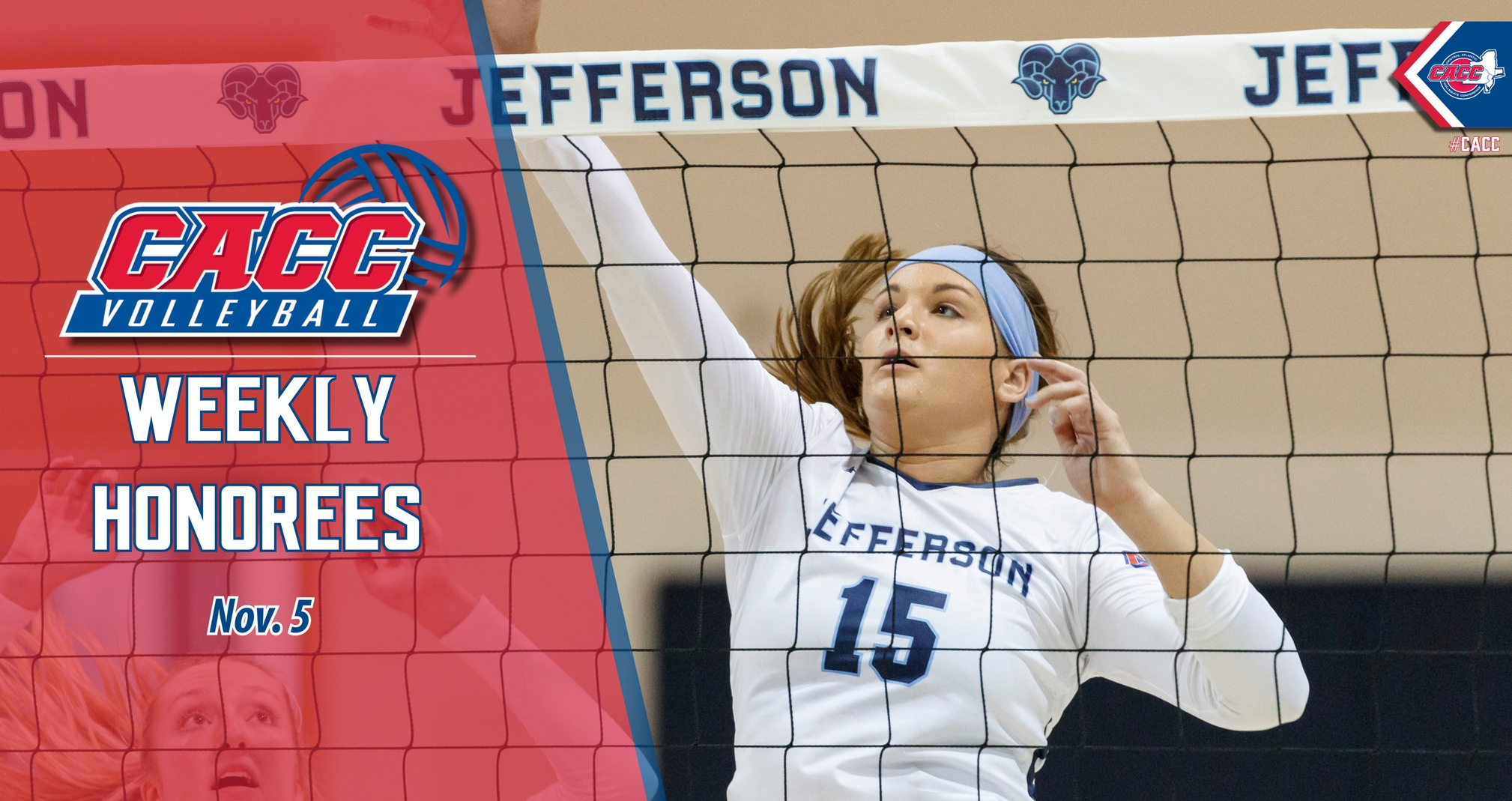 CACC Volleyball Weekly Honorees (Nov. 5)