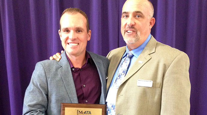 Westminster's Thompson Receives MoATA Outstanding Service Award
