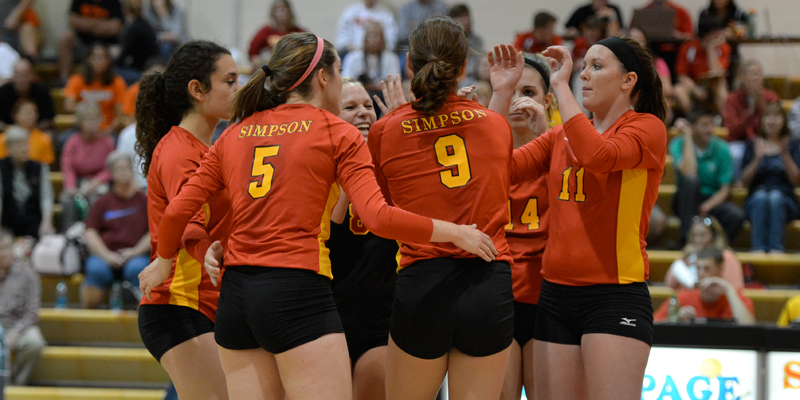 Volleyball drops pair on first day in Illinois