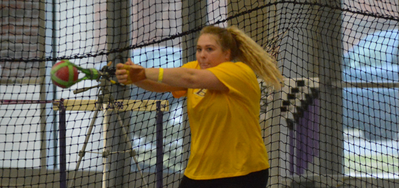 Sophomore thrower Brooke Buckhannon earned her first career All-OAC honors with a second place finish in the weight throw
