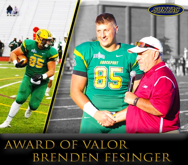 Brockport's Fesinger Honored with SUNYAC Award of Valor