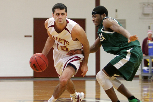 Men's Basketball: Cadets Put Away Mustangs of Mount Ida, 80-69