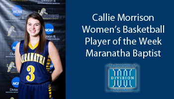 Morrison named Association of Division III Independents women's basketball Player of the Week