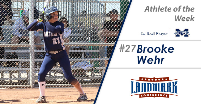 Brooke Wehr '21 named Landmark Conference Softball Player of the Week.