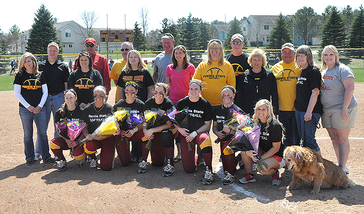 Ferris State Softball Moves Into Second-Place Tie In GLIAC By Winning Two Senior Day Games