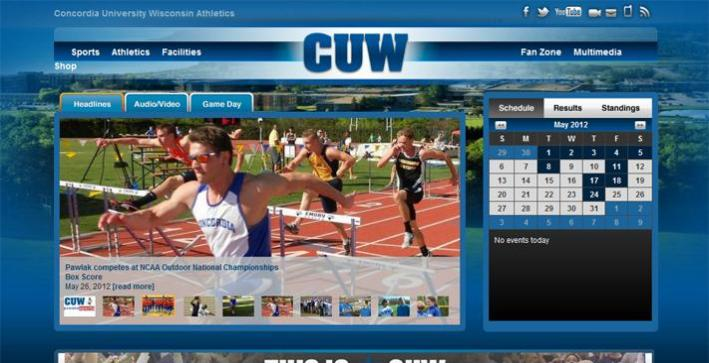 CUW partners with PrestoSports for new athletics website
