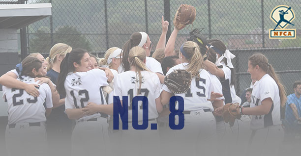 The Moravian College softball team is No. 8 in the latest NFCA Division III Top 25 Poll.