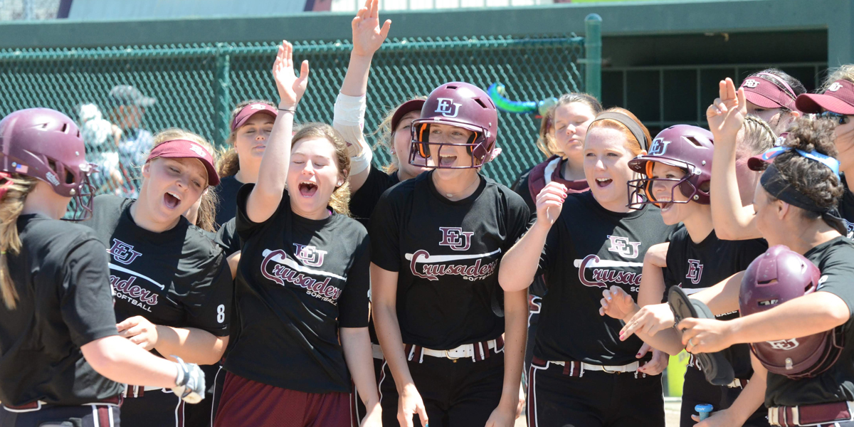 Bats Come Alive in Run-Rule Sweep for Evangel Softball Over Clarke