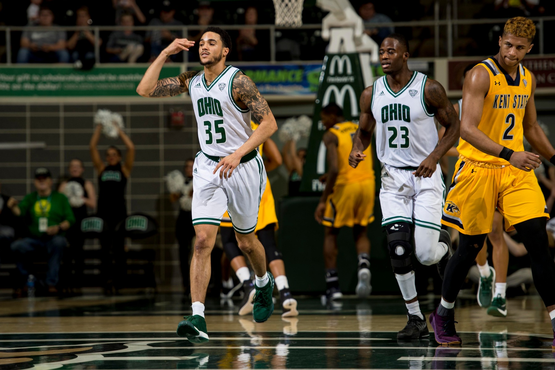 Ohio Men's Basketball Beats Kent State With Balanced Attack