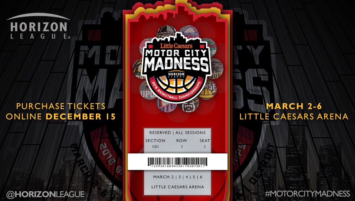 2018 Little Caesars Horizon League Men's and Women's Basketball Championship Tickets Go on Sale Dec. 15