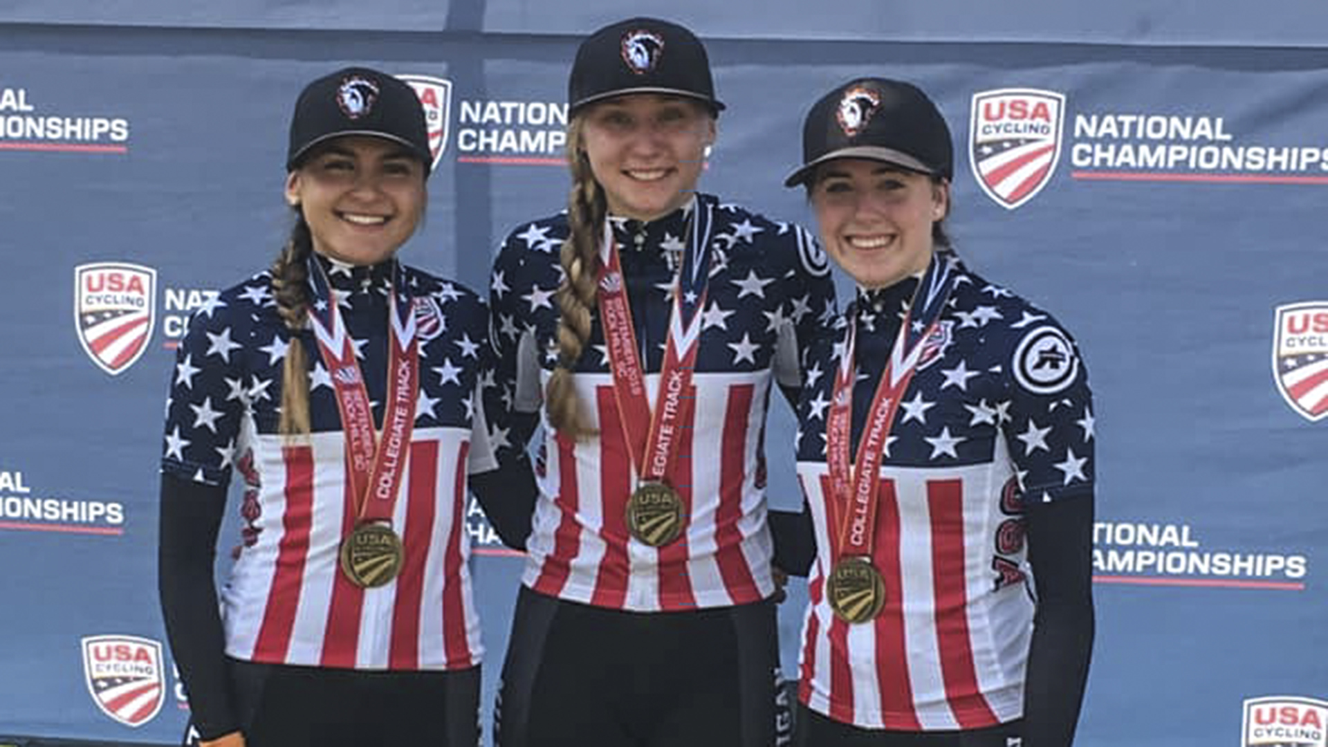 Cycling trio wins track national title