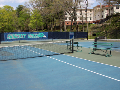 Court-level view of the tennis courts