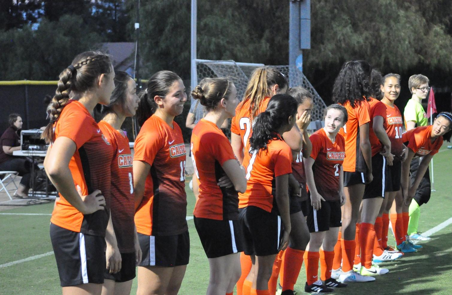 Women's Soccer Shows Well in Historic First Game