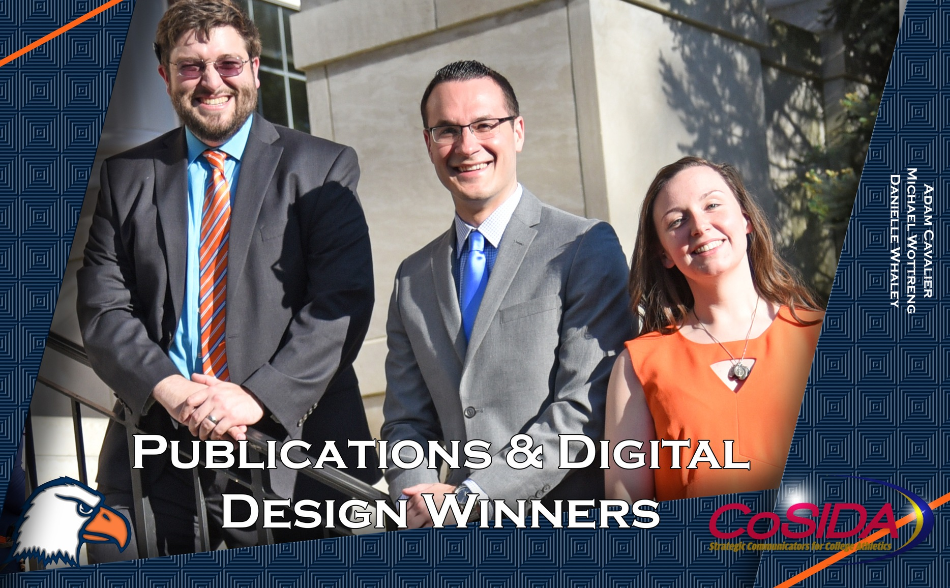 Athletic Communications team hauls in four awards in CoSIDA Publications and Digital Design Contest