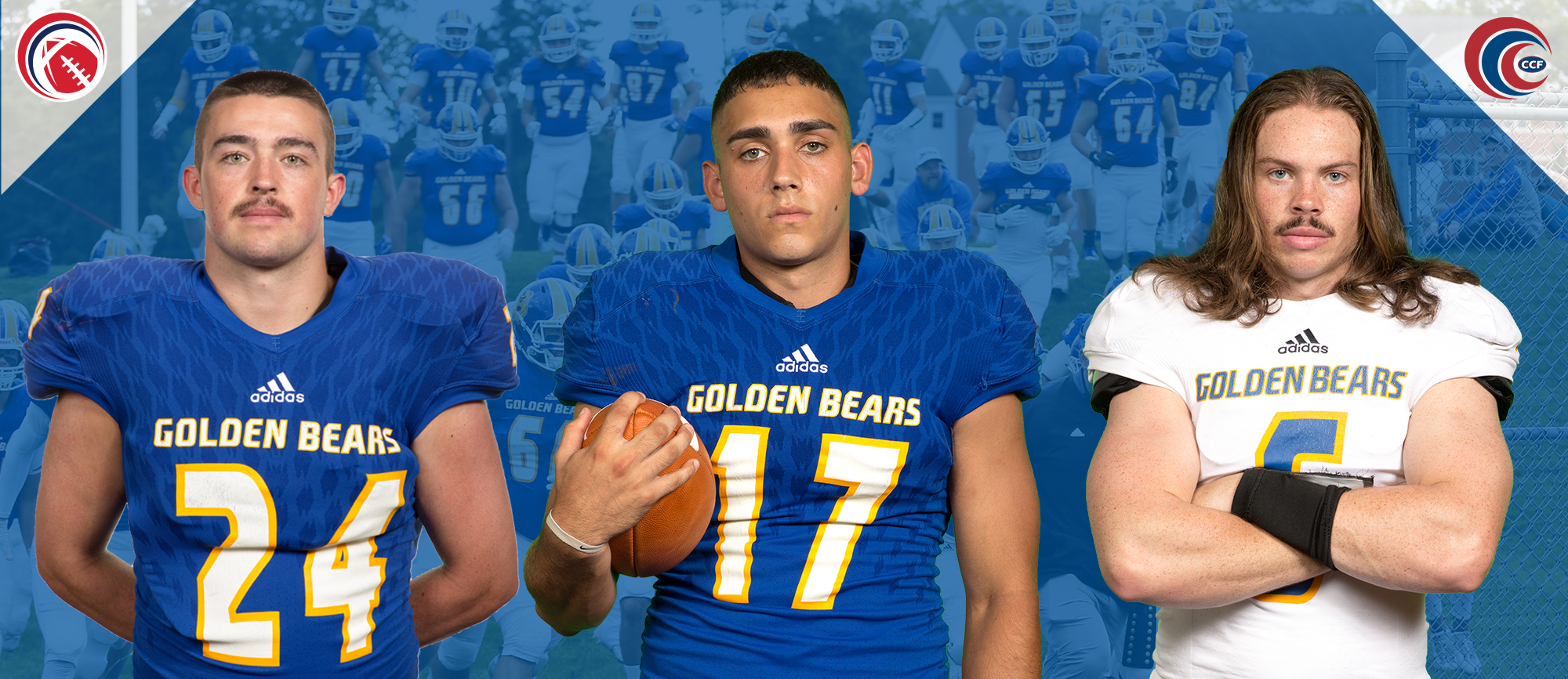 Eighteen Golden Bears Earn Awards & All-Conference Selections from CCC Football