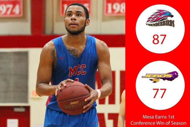 Mesa Locks Down 1st Conference Win of Season with 87-77 Victory Over Tohono O'odham