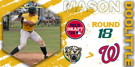 Mason Doolittle Drafted in Round 18 of 2019 Major League Baseball Draft