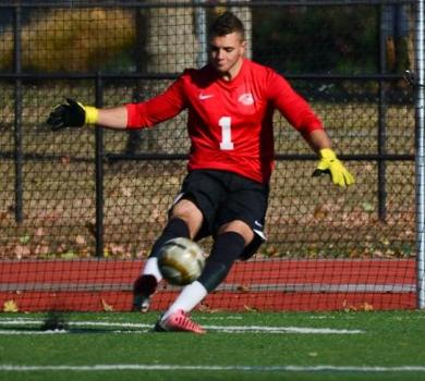 Men's Soccer Knocks Off Top-Seeded Sage in Shootout