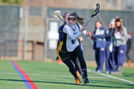 Junior attacker Deanna Giorno reached the 100-point milestone with a goal and an assist in the Royals' 12-10 victory at Goucher on Saturday.