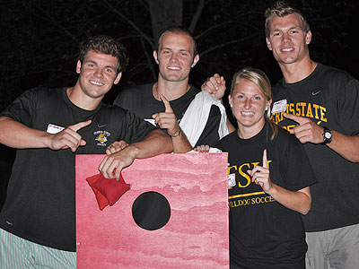"The team of Mike Embach, Chad Billins, Scott Wietecha & Carlee Boyle were crowned co-champions of the ""Bulldog Bags"" Tourney"
