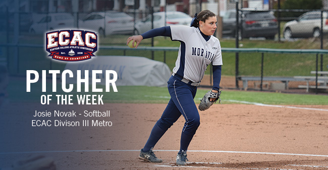 Novak Honored as ECAC Division III Metro Softball Pitcher of the Week