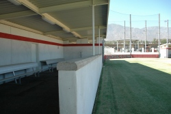 Panther Field home dugout closeup
