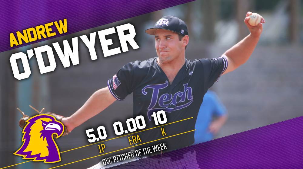 O'Dwyer named OVC Pitcher of the Week following career outing versus Morehead State