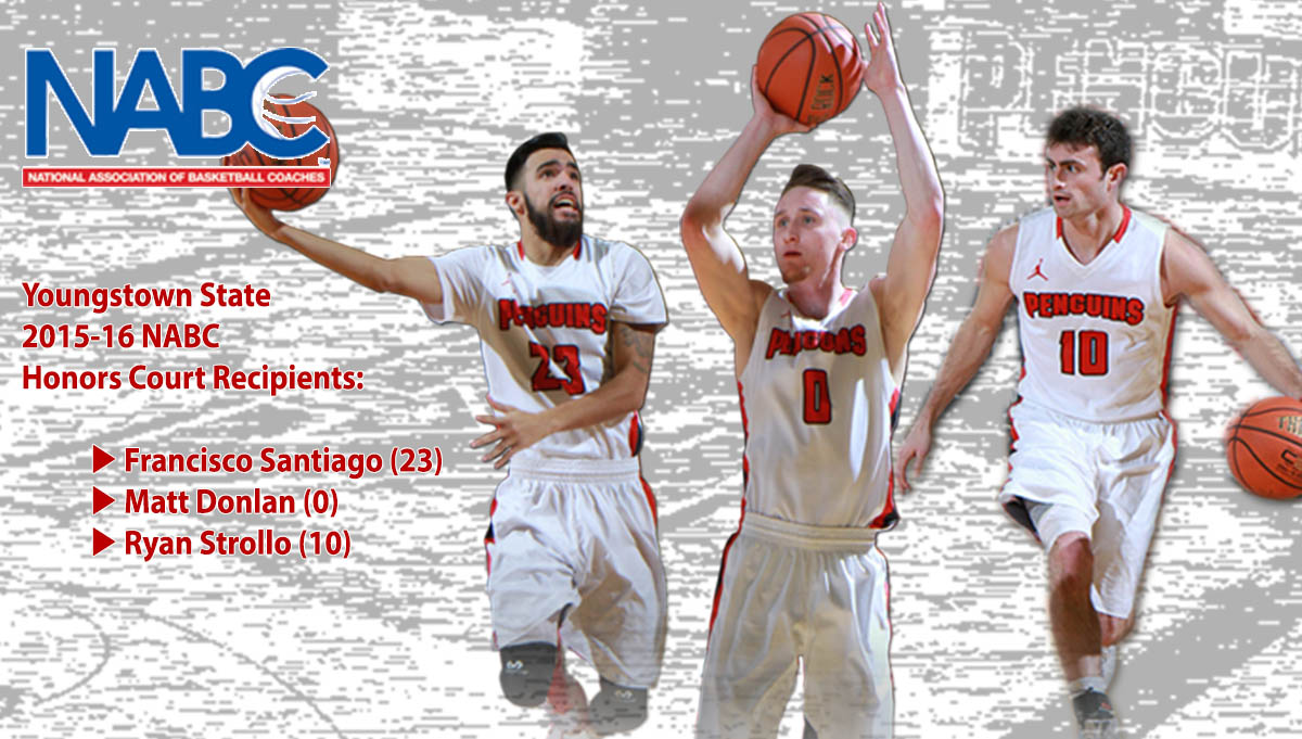 Three Men's Basketball Players Named to NABC Honors Court