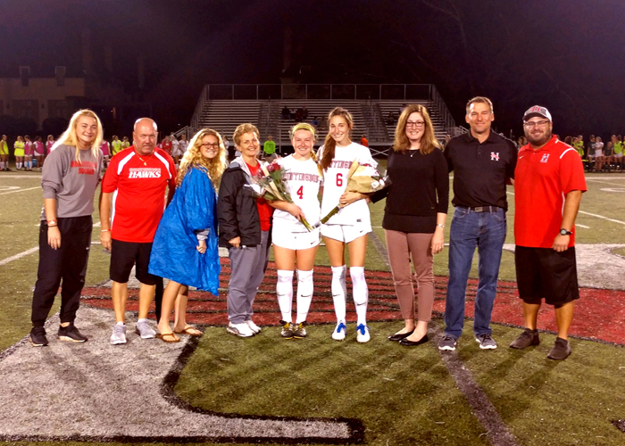 The Huntingdon women's soccer team recognized seniors Reilly Feeney and Camryn Hale during Friday's Senior Day.