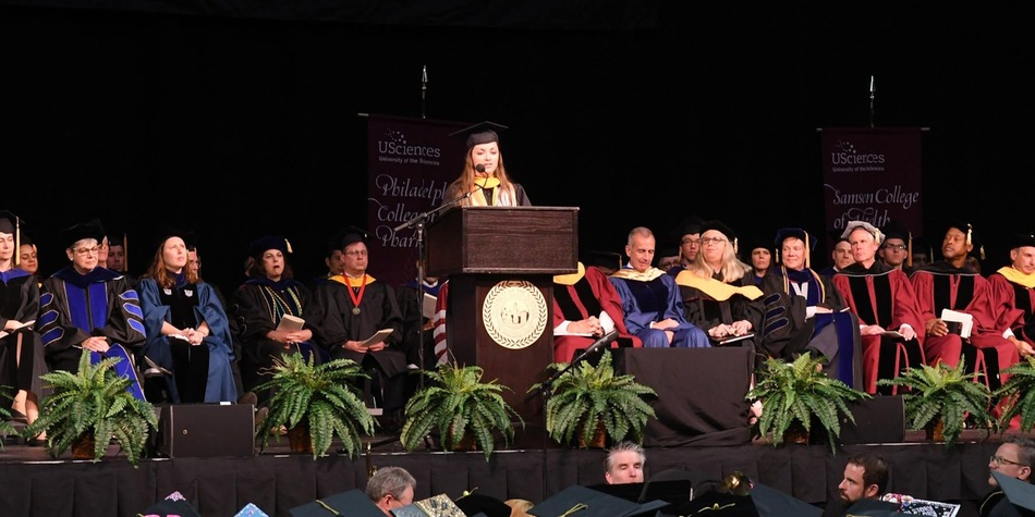 Softball's Rickard Represents Pharmacology and Toxicology Program as its First Valedictorian (Courtesy of USciences' Colby Gallagher)