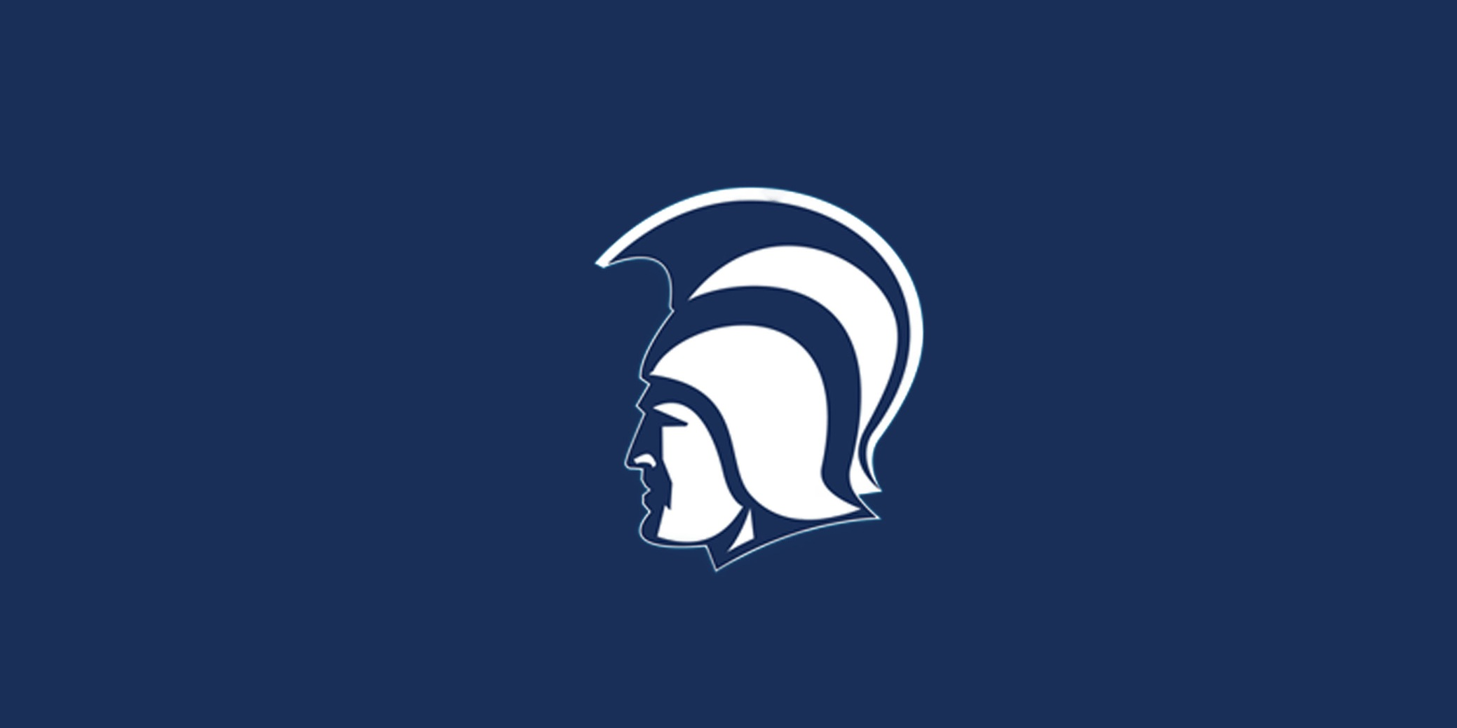 Spartan Head with Navy background.