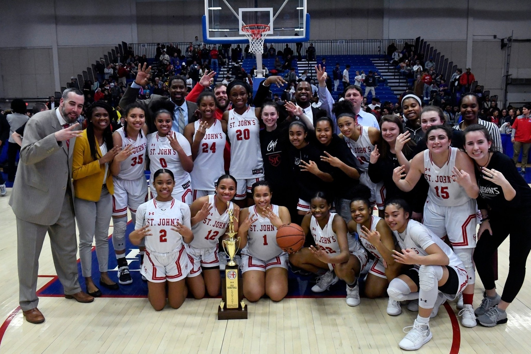 St. John's outduels McNamara again to win third straight WCAC girls' basketball title